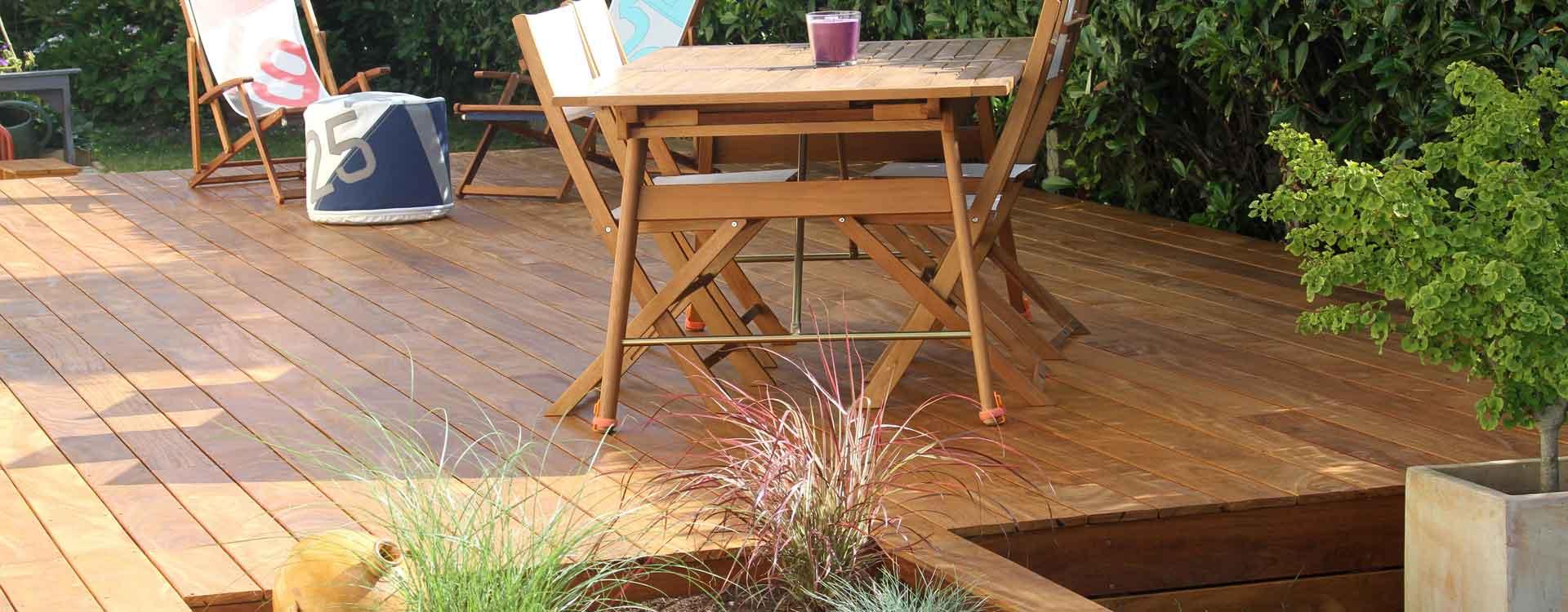 Nos créations de terrasse en bois exotique